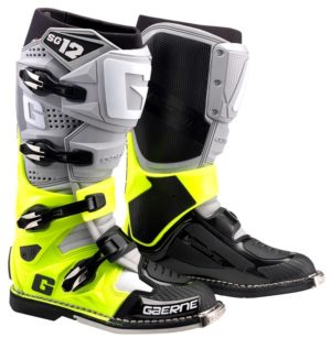 bottes motocross gaerne sg12-grey-yellow fluo-black