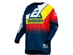 maillot motocross enduro answer elite korza midnight-white-yellow-red