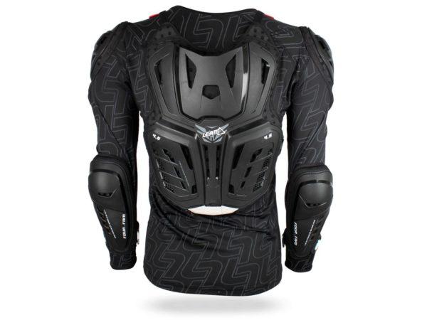 dos gilet de protection leatt protector 4.5 noir