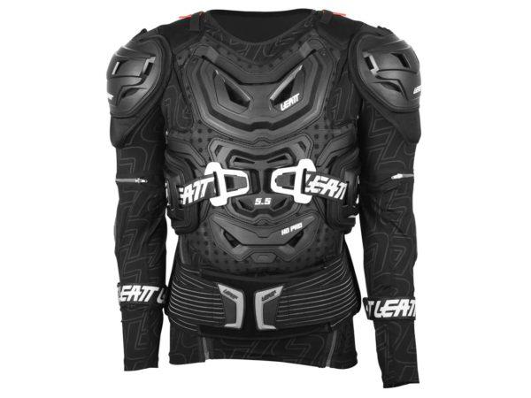 gilet de protection avec manches leatt body protector 5.5 noir
