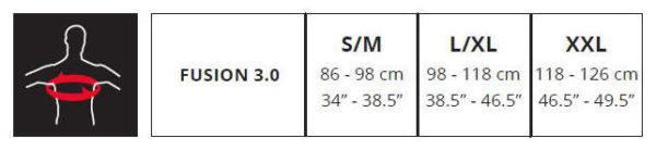 433426 – tableau taille protection intégrale leatt fusion 3.0 noir