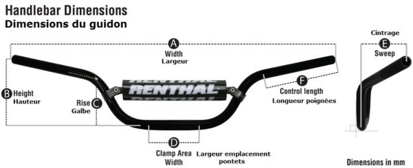dimension guidon motocross renthal