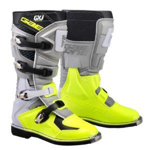 bottes enfants motocross mx gaerne gxj grey-neon