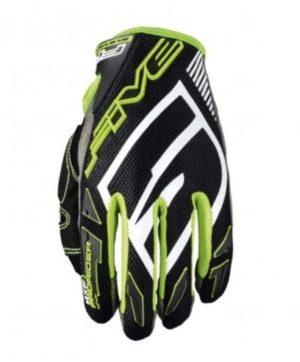 gant motocross enduro five mxf prorider s black fluo green 2019