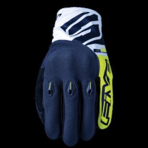 gants-motocross-enduro-five gloves-fluo-yellow-blue-face