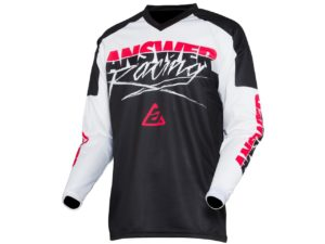 maillot answer syncron pro glow white-black-pink