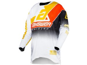 maillot motocross enduro answer elite korza black-white-yellow-red