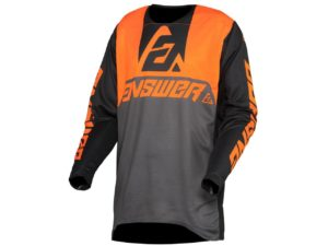 maillot motocross enduro answer trinity voyd charcoal-hyper orange-black