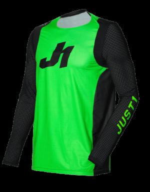 maillot motocross enduro just 1 j-flex jersey aria-fluo-gree-black
