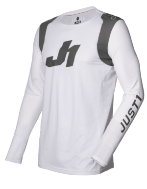 maillot motocross enduro just 1 j-flex jersey aria-white-grey