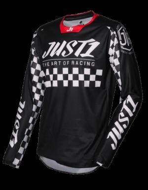 maillot motocross enduro just 1 j-force jersey racer-black-white