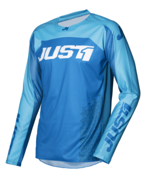maillot motocross enduro just 1 j-force jersey terra-blue-white