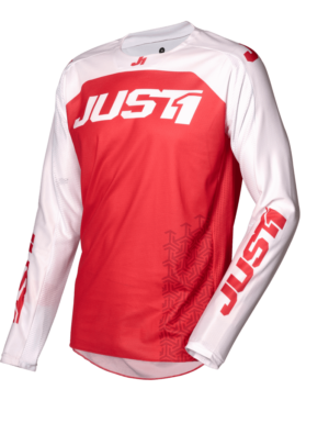 maillot motocross enduro just 1 j-force jersey terra-red-white