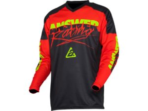 maillot motocross enduro mx answer syncron pro glow red-white-acid