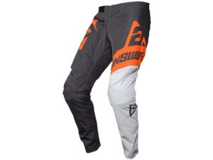 pantalon motocross enduro mx answer syncron voyd grey-orange