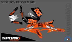 kit-déco-casque-Scorpion-VX-20-21-factory-two-orange